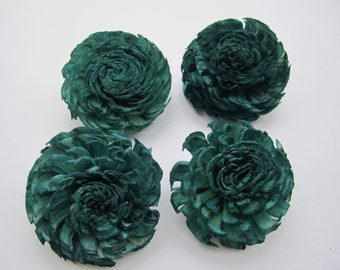 Sola flowers  -- SET of 12 -- Dark green