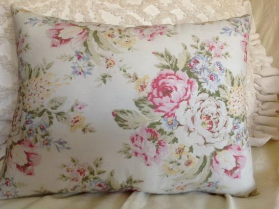 SHABBY CHIC PILLOW Cute rosebud pastel fabric Rachel Ashwell