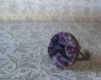 Boho felt ring. Felted accessories. Noble