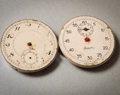 Set of 2 Vintage parts of pocket watch and sport stopwatch.