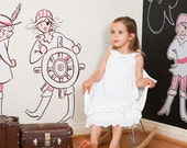 Sarah Jane Girls Pirates LARGE Eco-Friendly Reusable Fabric Wall Decals by Pop & Lolli