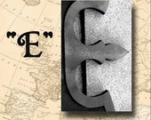 Letter E Alphabet Photography Black and White or Sepia 4 x 6 Photo Letter Unframed
