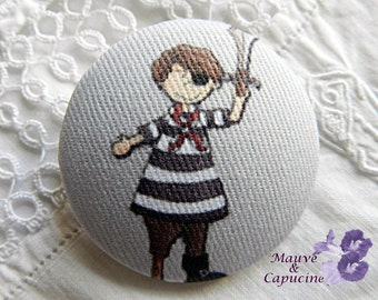 Fabric buttons,  pirate