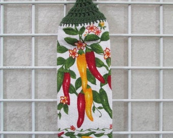 Chili Pepper Button-on Towel