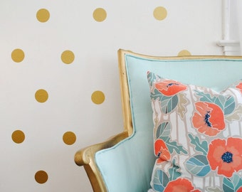 Vinyl Polka Dot Circle Wall Decals - Multiple sizes available! (Set of 30)