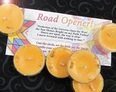 Road Opener Honeysuckle Jasmine  and Abre Camino Natural Blend Soy Tea Lights - 9  for Spellcasting, Magick, Meditation and Ritual