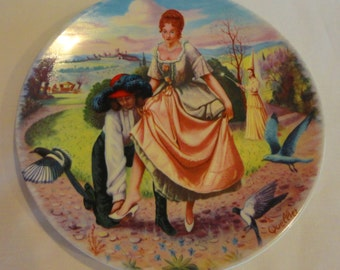 Cinderella Collector Plate by Porcelaines Limoges-Turgot 1983