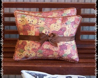 1:12 Witch Primitive Cushions dollhouse miniature by Soraya Merino