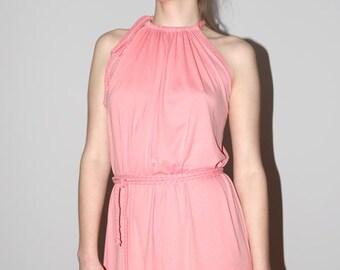 Sleeveless dress, maxi dress, summer dress, elegant dress, casual dress in coral