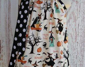 Vintage Halloween  Pillowcase Dress