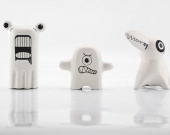 Monsters Ceramic Figurines - Porcelain Figurines - Modern Kawaii Figurines