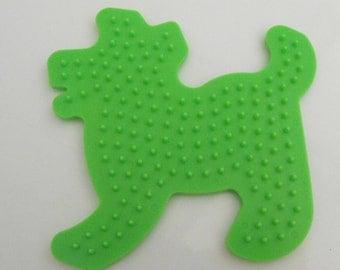 Perler Pegboard Green Dog