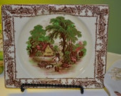 Royal Staffordshire Rural Scene Plates