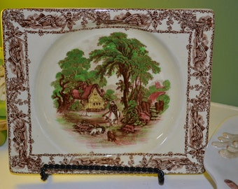 Royal Staffordshire Rural Scene Plates