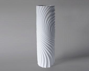 XXL 50 cm Rare German Porcelain Op Art Floor Vase - Scherzer 1970s