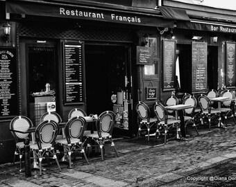 Paris Bistro, Paris Wall Prints, Paris Art for Wall, Paris Cafe Photography, Paris Cafe, Paris Print, Paris Cafe Art, Paris Wall Art