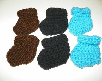 Baby Booties set of Three    Size Newborn