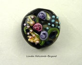 Flower Lampwork Glass Focal Bead