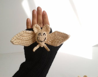 CAMPAİGN // Original Design Cute Bat  gloves,Halloweeen gloves, costume,  kids, children clothing, gift, birthday, boy, girl