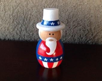 Uncle Sam Peg Doll