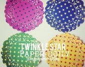 Twinkle star Paper doily / pack for scrapbook card making, wedding decoration / pack