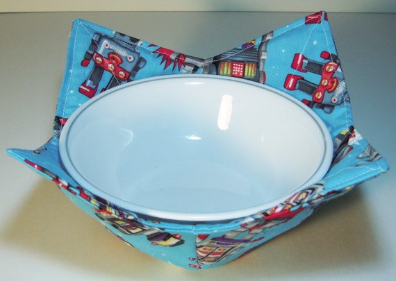 Fabric Soup Or Ice Cream Bowl Holder Robot