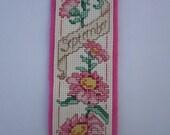 Flower September Cross Stitch Bookmark