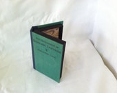 Passport case.  Recycled book cover clamshell -fits two passports