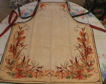 Apron, Autumn Leaves, Adult Size, Ready to Ship