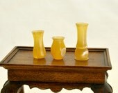 turned acrylic dollhouse miniature vases one inch scale