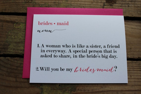 Will You Be My Bridesmaid Matron/Maid Of Honor Wedding Party