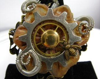 Ring Steampunk Repurposed Collective Adjustable
