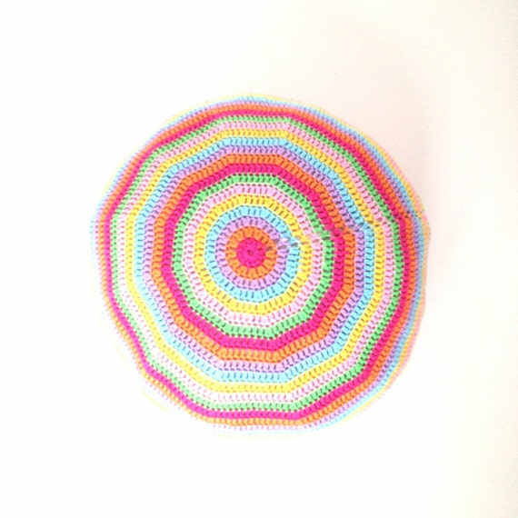Round Floor Pillow Sewing Pattern : Crochet Pouf Ottoman Floor Cushion Round Pillow Pattern - Instant Dowload from ...