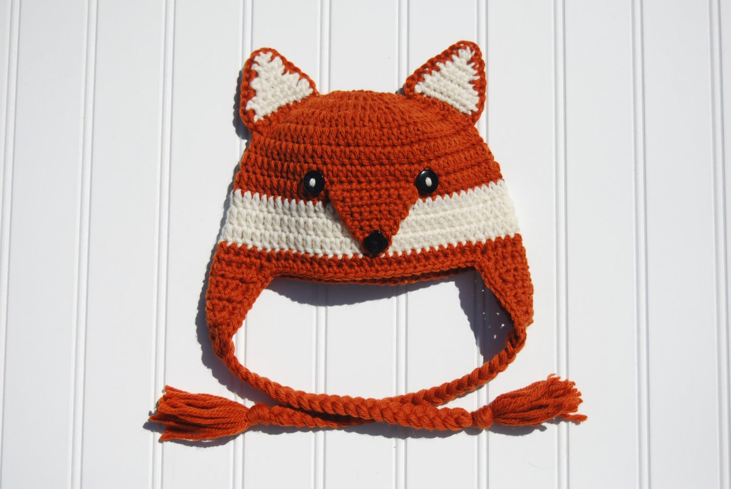 Crochet Fox Hat : Crochet Fox Newborn Hat Photo Prop Dark by ThatsTheCutestThing