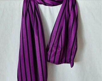 Purple and Black Stripe Scarf