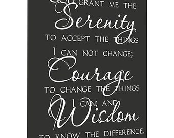 Framed canvas art God grant me the serenity to accept the things I cannot change religious cute signs quotes lettering wall art signs plaque