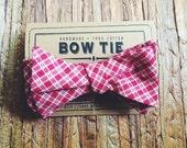 Bow Tie || Picnic Plaid