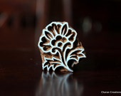 indian Wood Textile Stamp, wood block stamp, tjaps, pottery stamp, carved wood stamps - Flower