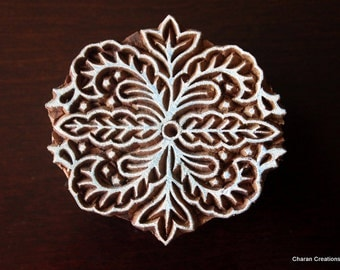 Indian wood stamp, textile Block stamp, Pottery stamp, Tjaps, blockprint stamp- Modern Floral Design