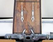 Silver Pen Nib Writers Earrings