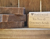 Tea Tree & Rosemary Scrub Handmade 4 oz Vegan Bar Soap