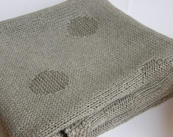 Organic baby blanket-Linen blanket-Knit baby blanket-Linen throw blanket-Organic cotton blanket-grey blanket-bassinet cover-blankets&throws