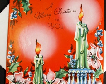 1940s VintageHomecoming Christmas Card UNUSED, with envelope