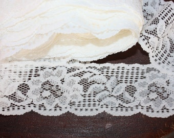 5 Yards = 4.57 Meters of Lace - Trim for Lingerie, Bridal, Garters, Altered Couture