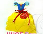 Snow White Dress Inspired - HUGE favor box, Printable Favor Box, princess party favor - INSTANT DOWNLOAD