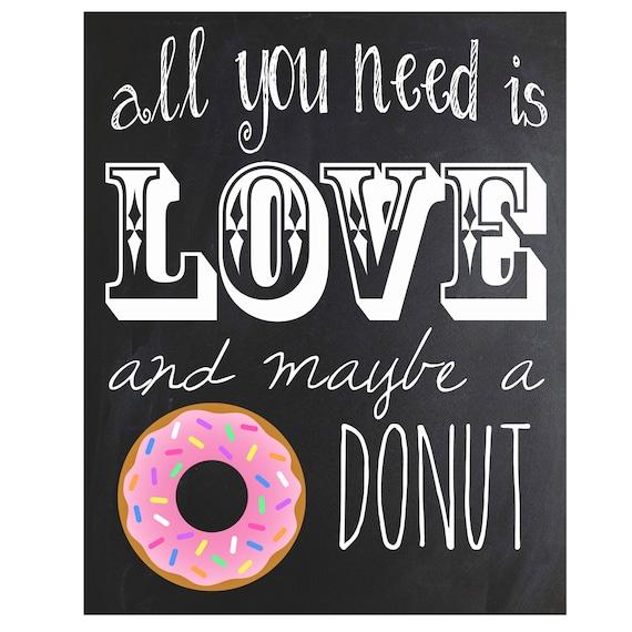 Donut Chalkboard Sign | Instant Download