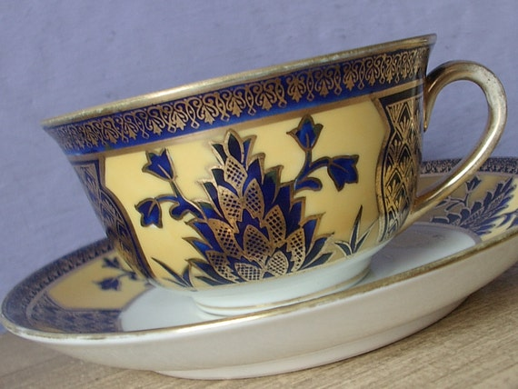 Antique 1920 S Noritake China Hand Painted Tea Cup Set
