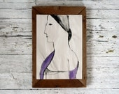 art, painting, portrait, original painting, PURPLE STOLE