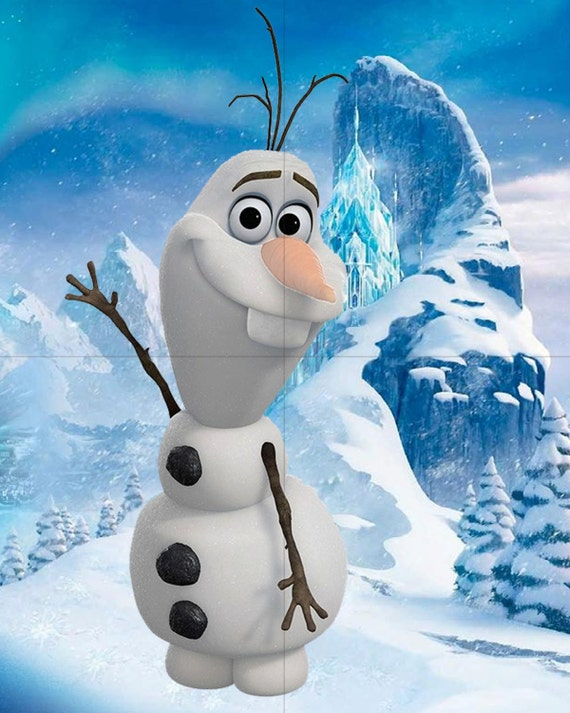 Pin the carrot on olaf birthday game frozen inspired