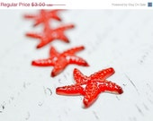 25% OFF Red Crystal Starfish Cabochons Flatbacks with Foil, 20mm Sparkly Star Fish Crystal Embellishments 10 pcs